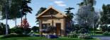 Chalet en bois habitable AVIGNON (44+44 mm, RT2012), 19.9 m² + 16 m² étage visualization 2