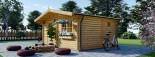 Abri de jardin NINA (44+44 mm, RT2012), 5x5 m, 25 m² visualization 4