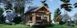 Chalet en bois habitable AVIGNON (44+44 mm, RT2012), 19.9 m² + 16 m² étage visualization 3
