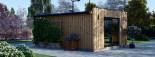 Bureau de jardin PREMIUM (SIPS, RT2012), 7x4 m 28 m² visualization 7
