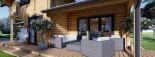 Chalet en bois HOLLAND (44+44mm) 113m + 13m terrasse visualization 10