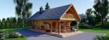 Chalet en bois AURA avec étage (44+44 mm, RT2012), 100 m² + 35 m² terrasse visualization 2