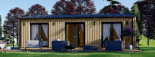 Chalet en bois ANGELA (44 mm + bardage), 50 m²  visualization 2