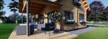 Chalet en bois VERA (66 mm) 132 m² + 13.5 m² terrasse visualization 9