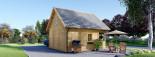Chalet en bois habitable LIVINGTON (44+44 mm, RT2012), 50m² visualization 6