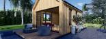 Chalet en bois habitable SALLY (44 mm + bardage, RT2012), 20 m² visualization 9
