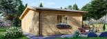 Abri de jardin avec appenti CLARA (44 mm), 7x4 m, 28 m² visualization 4