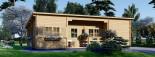 Chalet en bois à toit plat UZES (58 mm), 70 m² visualization 2