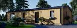 Chalet en bois habitable NICOLE (44 mm + bardage, RT2012), 78 m² visualization 7