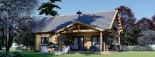 Chalet en bois habitable VERA (44+44 mm, RT2012) 132 m² + 13.5 m² terrasse visualization 2