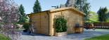 Abri de jardin NINA (44+44 mm, RT2012), 6x6 m, 36 m² visualization 5