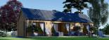 Chalet en bois ADA (44 mm + bardage), 50 m² visualization 3