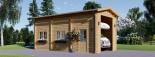 Garage en bois camping car (44 mm), 4x8 m, 32 m² visualization 1