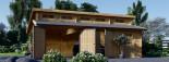 Garage en bois double TWIN (44 mm), 8x6 m, 48 m² visualization 3