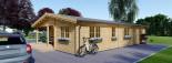 Chalet en bois LINDA (66 mm), 78 m² + 38 m² terrasse visualization 7