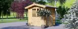 Abri de jardin NANO (28 mm), 2.5x2 m, 5 m² visualization 5