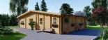 Chalet en bois RIVIERA (66 mm), 100 m² + 20 m² terrasse visualization 9