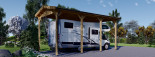 Carport en bois camping car,  3.5x7 m, 24.5 m² visualization 3