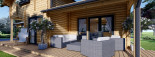 Chalet en bois HOLLAND (66 mm), 113 m² + 13 m² terrasse visualization 10