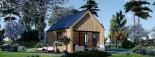 Chalet en bois habitable SALLY (44 mm + bardage, RT2012), 20 m² visualization 2