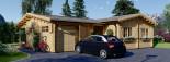 Chalet en bois BERTA (66 mm), 72 m² avec terrasse + 20 m² garage visualization 4