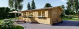 Chalet en bois HYMER (66 mm), 42 m² + 10 m² terrasse visualization 4