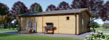 Studio de jardin habitable MARINA (44+44 mm, RT2012), 8x6 m, 48 m² visualization 5