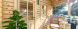 Chalet en bois NANTES (44 mm), 24 m² + 3.5 m² terrasse visualization 8