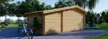 Abri de jardin ISLA (44 mm), 18 m² + 7 m² terrasse visualization 5