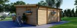 Chalet en bois à toit plat ALTURA (44+44 mm, RT2012), 31m² +  8 m² terrasse visualization 5