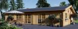 Chalet en bois habitable JULIA (44+44 mm, RT2012), 103 m² visualization 2