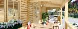 Chalet en bois AMELIA (66 mm), 32 m² + 20 m² terrasse visualization 9