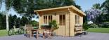 Abri de jardin à toit plat DREUX (44 mm), 4x3 m, 12 m² visualization 6