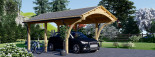 Carport en bois BETSY, 3.6x6 m, 21.6 m² visualization 1