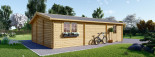 Garage en bois (44 mm), 6x9 m, 54 m² visualization 7