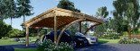 Carport en bois CORA DUO, 5.9x5.9 m, 34.8 m² visualization 2
