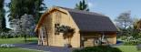 Garage en bois BARN (44 mm), 5x6 m, 30 m² visualization 5