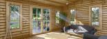 Abri de jardin avec appenti LEA (66 mm), 7x4 m, 28 m² visualization 8