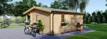 Chalet en bois NANTES (44 mm), 24 m² + 3.5 m² terrasse visualization 6