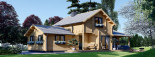 Chalet en bois HOLLAND (66 mm), 113 m² + 13 m² terrasse visualization 2