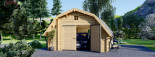 Garage en bois BARN (44 mm), 5x6 m, 30 m² visualization 2