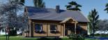 Chalet en bois habitable VERA (44+44 mm, RT2012) 132 m² + 13.5 m² terrasse visualization 7