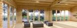 Studio de jardin habitable MARINA (44+44 mm, RT2012), 8x6 m, 48 m² visualization 9