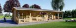 Chalet en bois TOSCANA (44+44 mm), 53 m² + 29 m² terrasse visualization 8