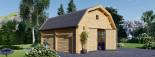 Garage en bois MISSISSIPPI (44 mm), 5x6 m, 30 m² visualization 6