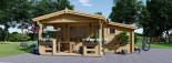 Abri de jardin ISLA (44 mm), 18 m² + 7 m² terrasse visualization 2