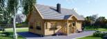 Chalet en bois 2 etages EMMA (66 mm), 80 m²  visualization 1