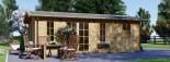 Abri de jardin avec appenti LEA (44 mm), 7x4 m, 28 m² visualization 2