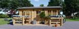 Chalet en bois ALTURA (44+44 mm, RT2012), 31m² +  8 m² terrasse visualization 2