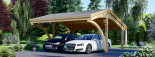 Carport en bois CORA DUO, 5.9x5.9 m, 34.8 m² visualization 6